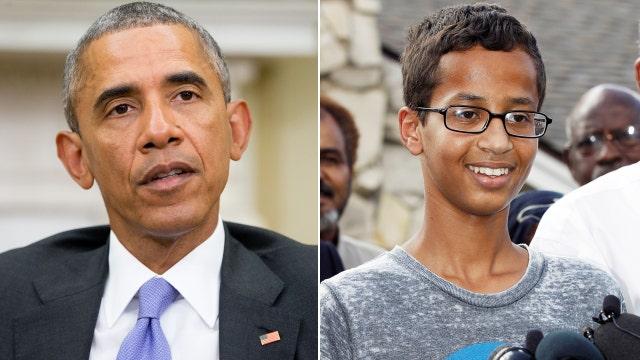 President Obama on Texas teen: Cool clock, Ahmed| Latest ...  Obama