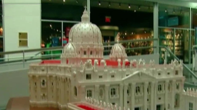 Priest builds massive Lego model of the Vatican