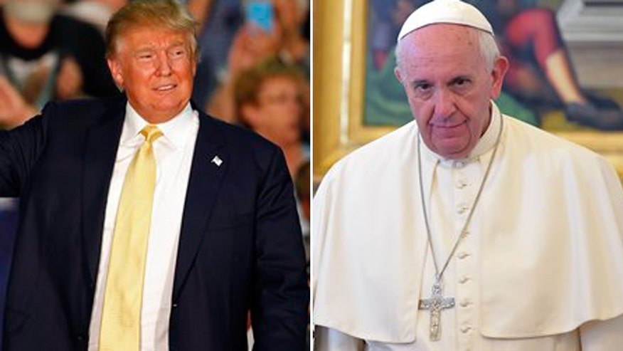 The Donald wants a wall; the pontiff wants US to open its doors