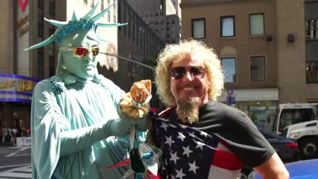 Sammy Hagar hits the streets