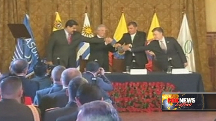 The presidents of Colombia and Venezuela met for five hours discussing Venezuela's decision to close its border with Colombia and begin deporting Colombian migrants.