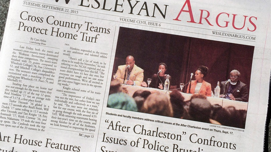 Wesleyan University student caught in First Amendment battle