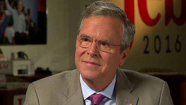 Jeb Bush on challenge of overcoming political outsiders