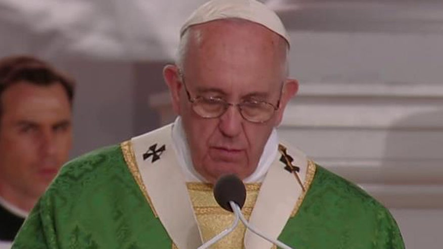 Pontiff addresses an estimated crowd of one million in Philadelphia