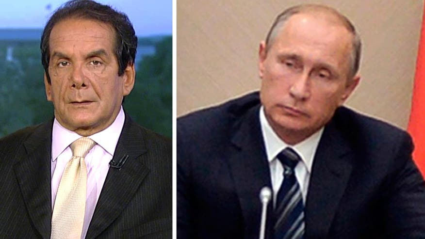 "Syndicated columnist Charles Krauthammer said Wednesday on ""Special Report with Bret Baier"" that Russian President Vladimir Putin's stated goal of fighting ISIS was proven untrue today as Russian airstrikes targeted the Syrian city of Homs."