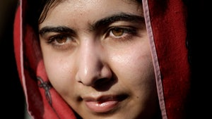 """Malala Yousafzai, the young Pakistani activist and Nobel Peace Prize Winner, arrives for the premiere of the powerful documentary """"He Named Me Malala."""""""