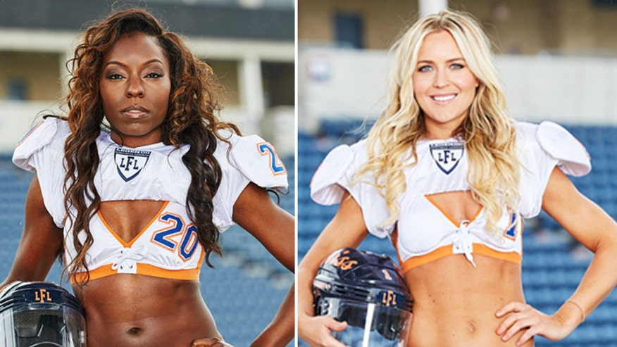 In the Zone: Female football players and stars of new show 'Pretty.Strong' Yashi Rice and Alli Alberts talk playing tackle football in bikini bottoms