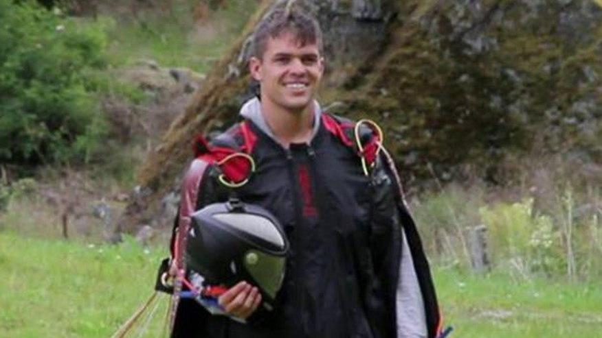 Strange died in a wing suit crash in the Swiss Alps, he was 23