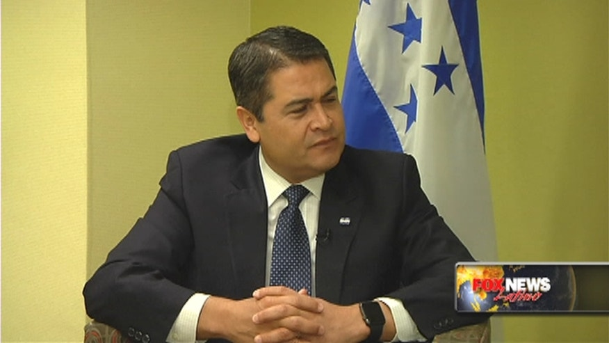 Fox News Latino spoke to Honduran president Juan Orlando Hernández about the immigration crisis and fighting drug cartels.