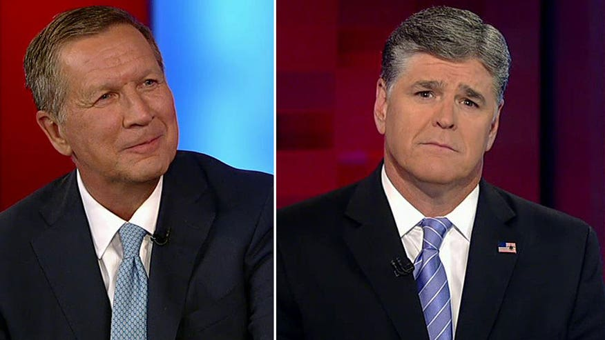 The candidate from Ohio talks plans for taxes, immigration laws, refugees; weighs in on House speaker race on 'Hannity'