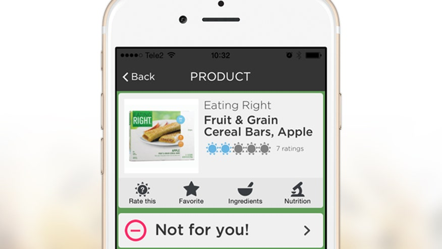 An app called 'ipiit' scans grocery items for ingredients that you're allergic to so you know what to buy