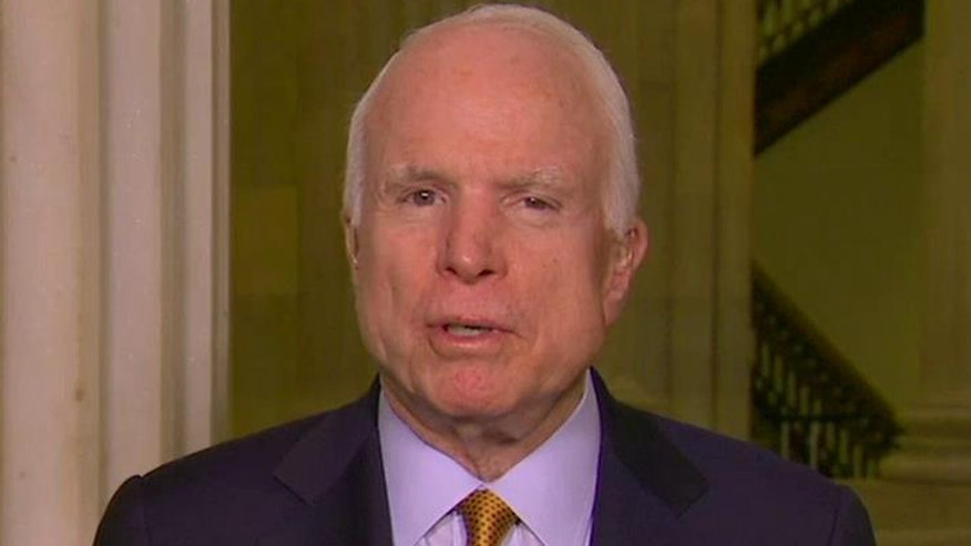 Sen. John McCain goes 'On the Record' on military leaders recommending leaving as many as 20,000 U.S. troops in Afghanistan after 2016 - four times what is called for in Obama's plan