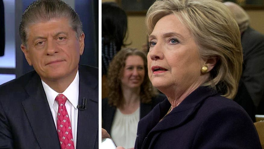 "Judge Andrew Napolitano on Hillary Clinton's Benghazi testimony: FBI investigators ""found a field day today"""