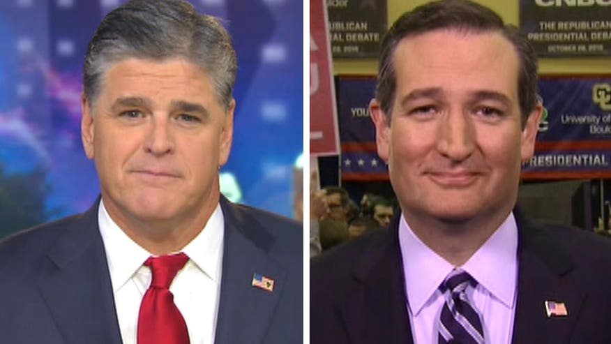 Sen. Ted Cruz speaks out about CNBC debate, liberal bias on 'Hannity'