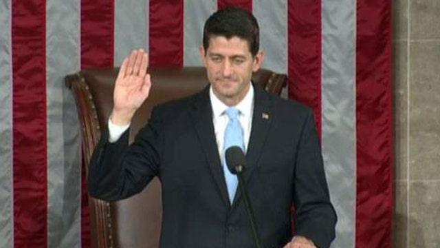 Rep. Paul Ryan sworn in as speaker of the House