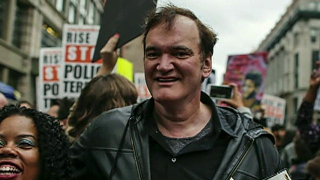 Quentin Tarantino receiving celebrity support