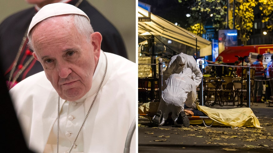 The Vatican calls the violence in Paris an 'attack on peace for all humanity'
