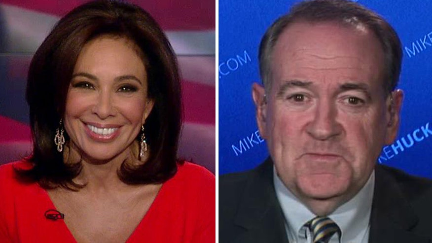 Former Arkansas governor speaks out about president's terror, refugee policies on 'Justice with Judge Jeanine'