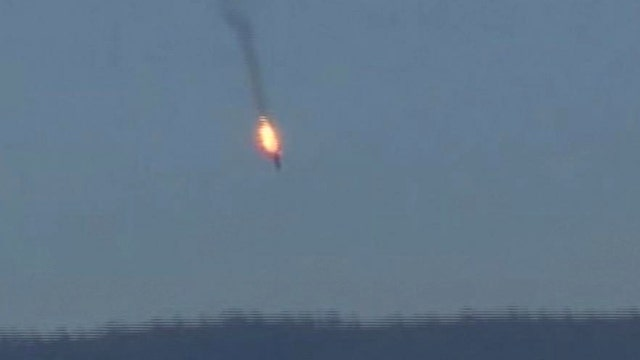 Amateur video shows Russian jet shot down near Syrian border