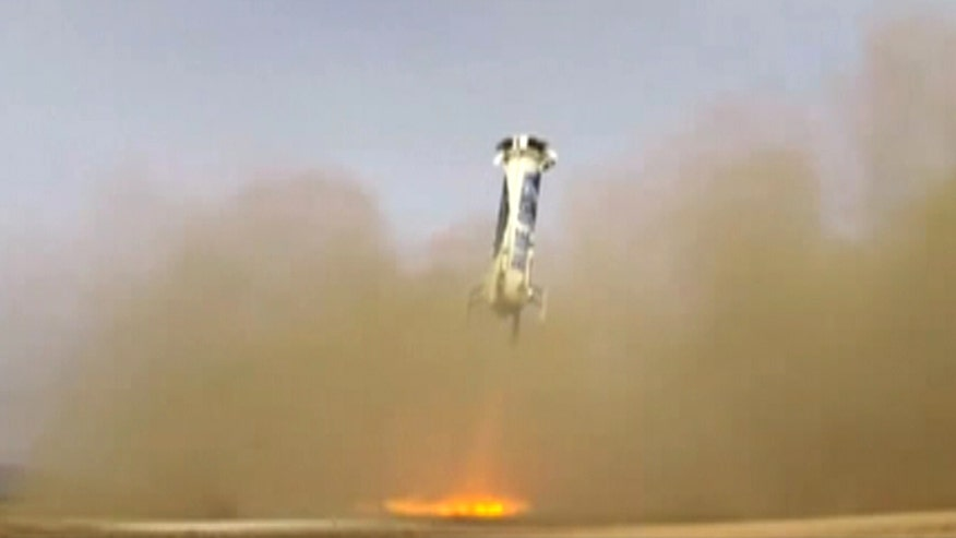 Raw video: Blue Origin successfully launches unmanned vehicle into space and lands back on Earth