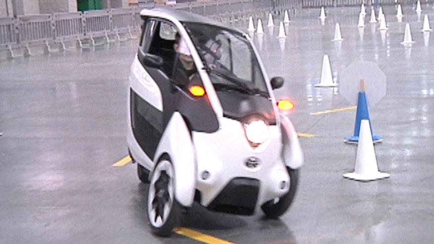Toyota is approaching urban mobility from a different angle with its three-wheel leaning i-Road electric vehicle.
