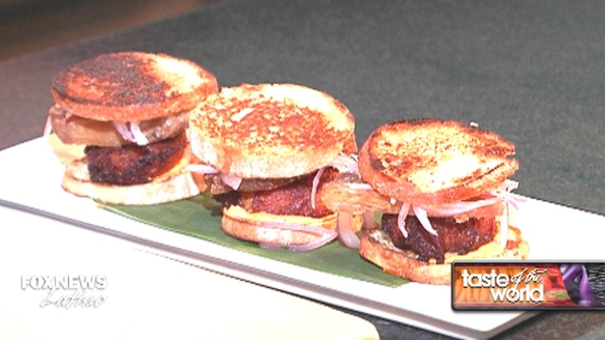 New Years: Chicharron sliders