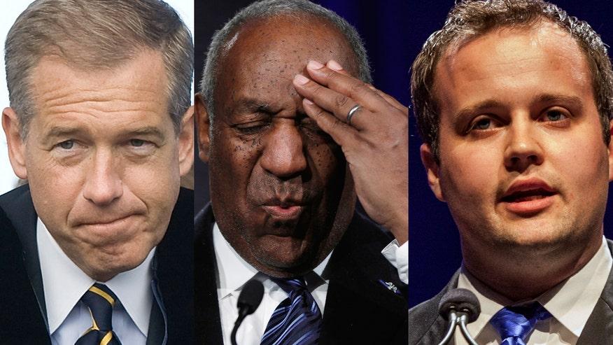 Fox411: Brian Williams, Bill Cosby and Josh Duggar top Fox411's list of 2015's biggest celeb losers