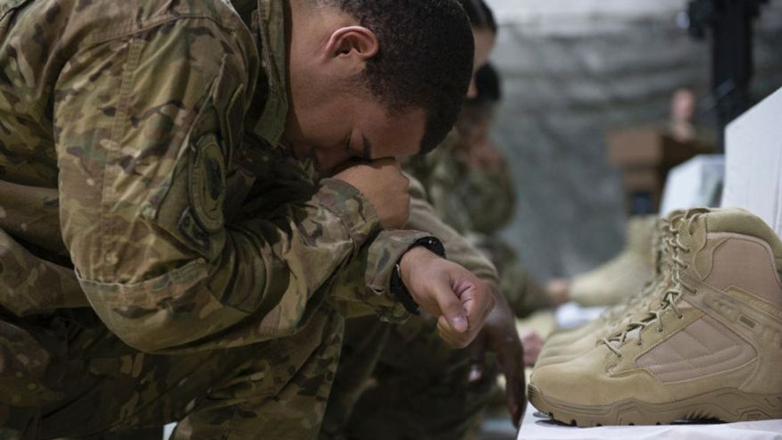 Raw video: Service for victims killed by Taliban attacker in Afghanistan