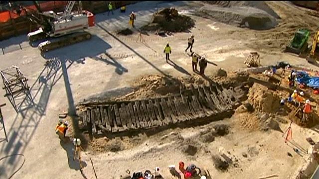Revolutionary War-era ship unearthed at Virginia construction site