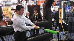 Sports technology took center stage at this year's Consumer Electronics Show. Exhibitions featured everything from customized wearable technology to virtual reality software and tracking devices to help enhance performance.