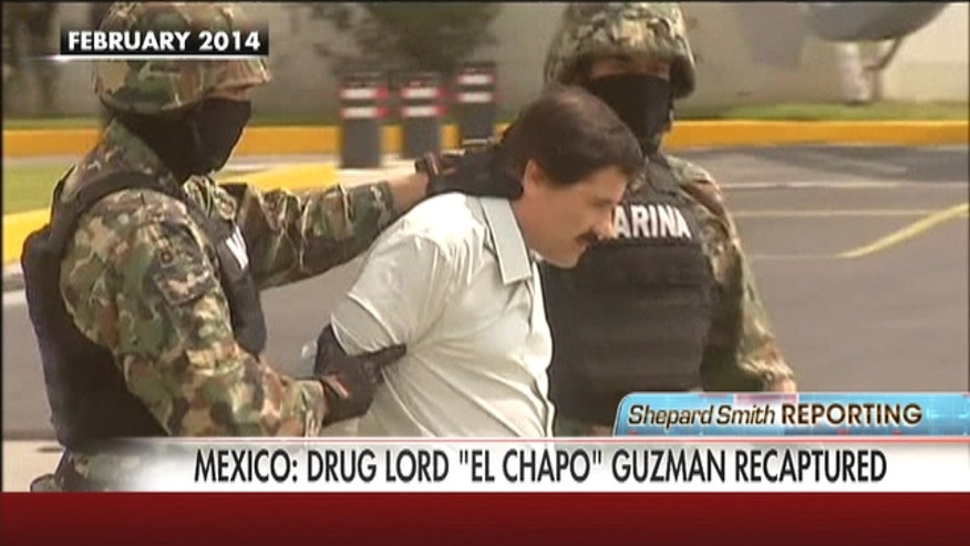 "After escaping a maximum security prison in July, ""El Chapo"" was captured after a shootout with marines."