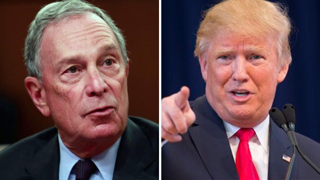 Trump: I would love to run against Michael Bloomberg