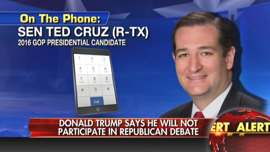 Ted Cruz says Donald Trump is afraid of Megyn Kelly and is disrespecting Iowa voters by not showing up to FOX debate.