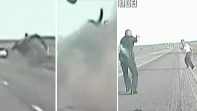 Wild chase: Driver ejected from truck, tries to flee on foot