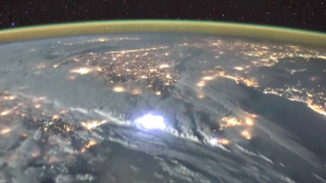 Amazing video of electrical storm on Earth seen from space