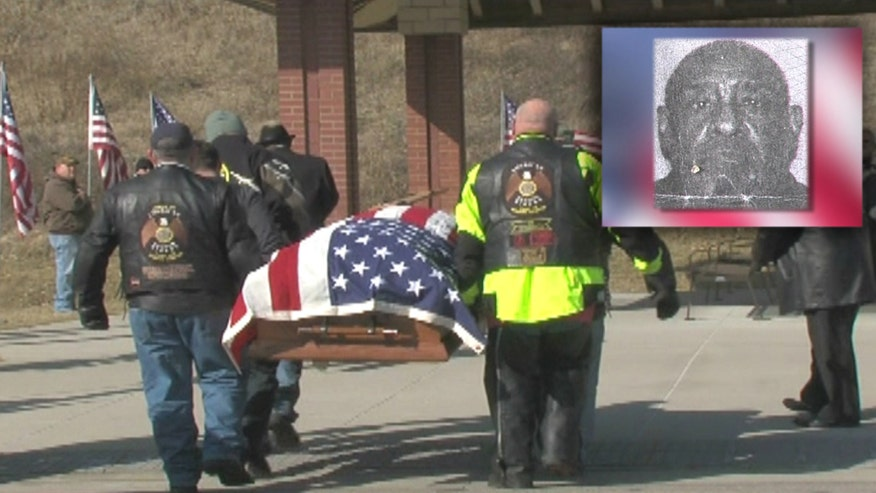 Some 200 people attend funeral for Vietnam veteran and Purple Heart recipient who died without a home or any close relatives in Kansas
