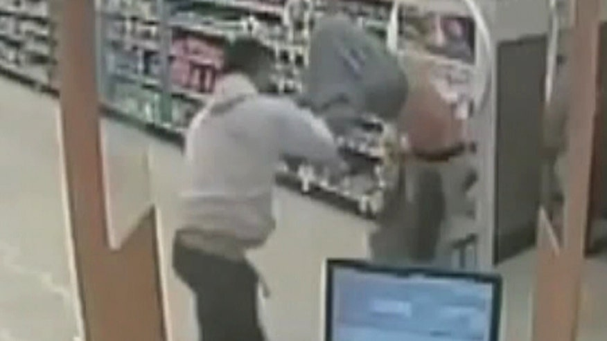 Would-be robber left beaten, bruised in Florida Walgreens after customer intervenes to stop theft