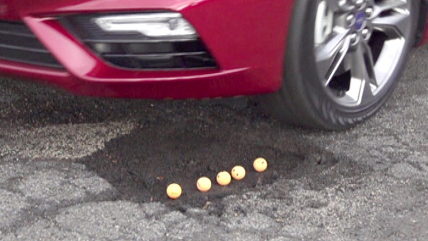 Ford has developed new technology that helps cars skip over potholes to prevent damage and pain.
