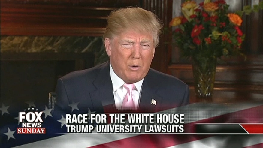 Donald Trump talked to Fox News Sunday about why he brought up a judge's ethnicity in Trump University lawsuit.