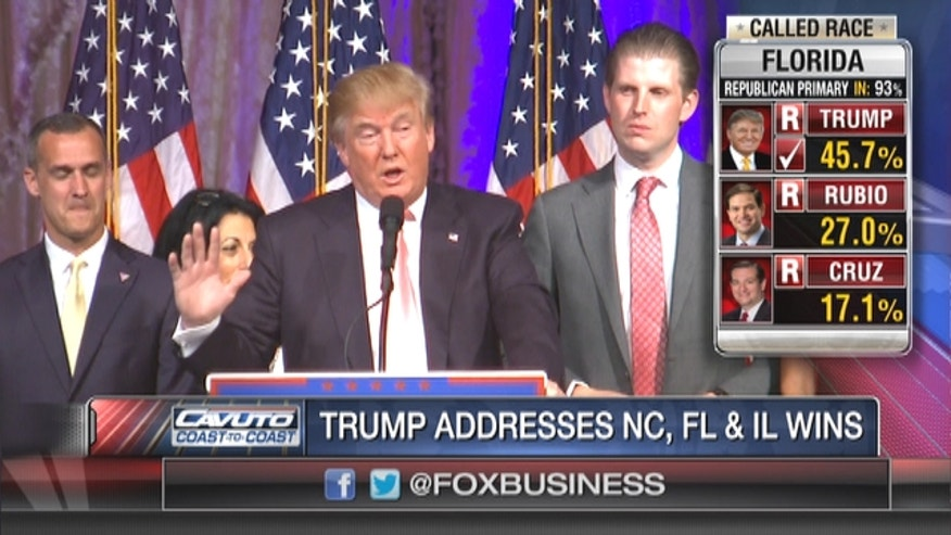 Donald Trump had another big Super Tuesday after big wins in Florida, North Carolina, Illinois.