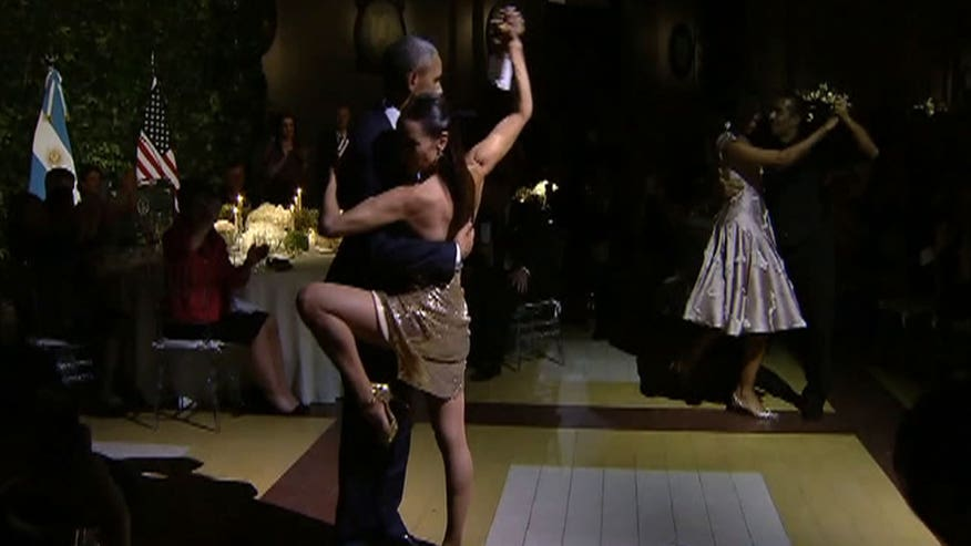 President preforms the dance of love