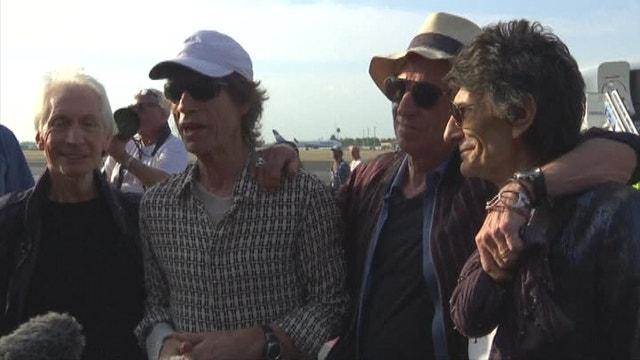 Rolling Stones arrive in Cuba