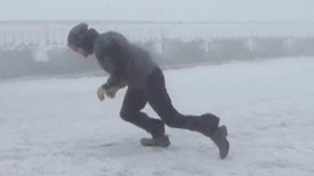 Weather observers battle dangerous winds up to 109 mph