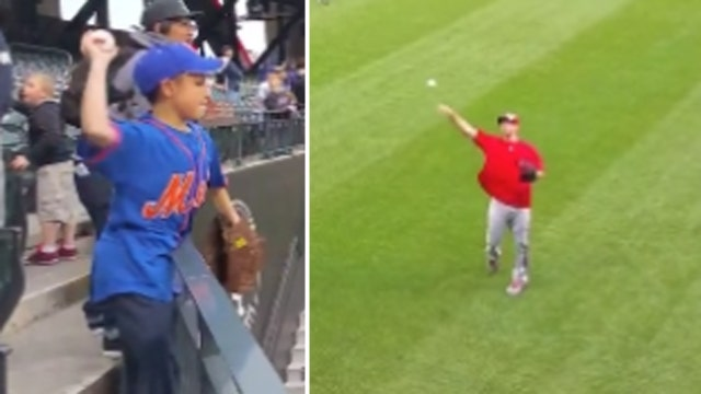 Video of MLB star playing catch with 11-year-old goes viral