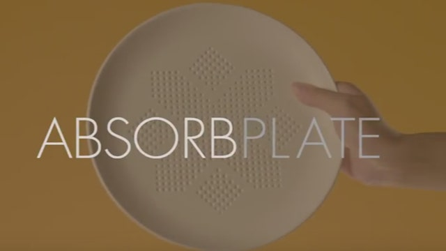 Diet fad: A plate that absorbs calories?