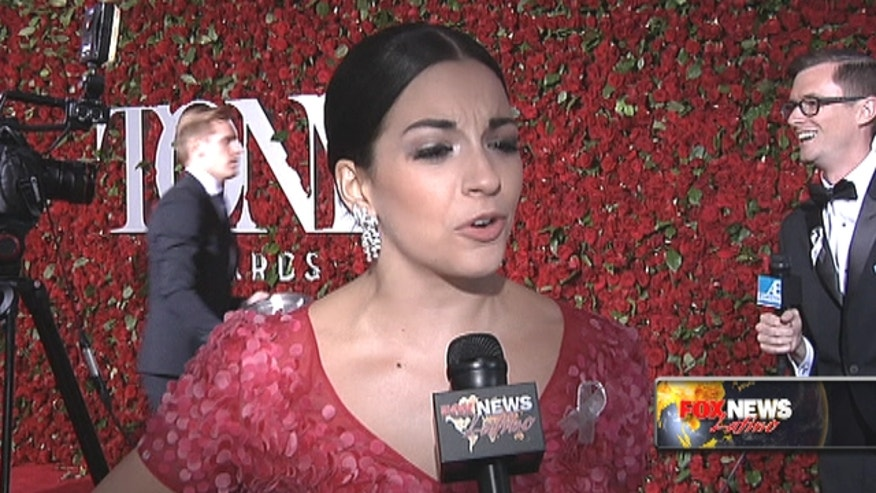 Stars from some of Broadway's biggest show hit the red carpet for the Tony Awards.