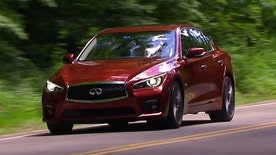 Gary Gastelu jacks into the high tech turbocharged Infiniti Q50 Red Sport semi-autonomous sports sedan.