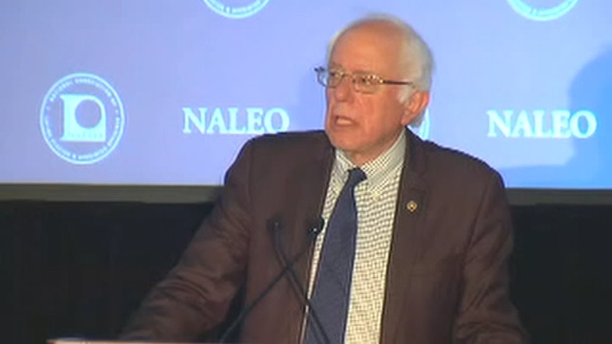 Bernie Sanders addresses the National Association of Latino Elected and Appoints Officials (NALEO).