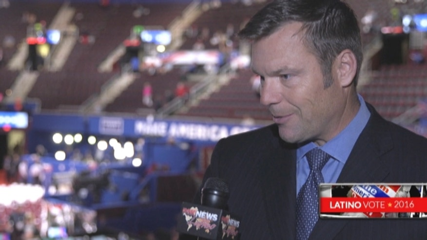 Kansas Secretary of State Kris Kobach talks to Fox News Latino about the GOP platform's immigration section, which he helped craft.