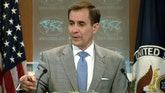 Raw video: John Kirby catches journalist playing game during press briefing